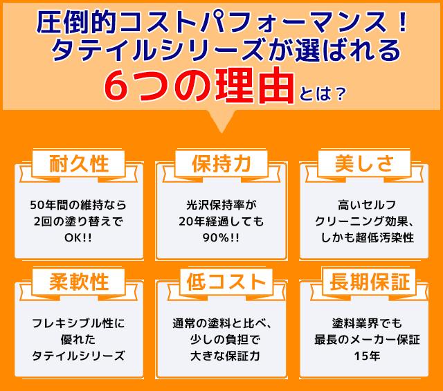 タテイルシリーズが選ばれる6つの理由
